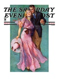"""""""Out on a Date """" Saturday Evening Post Cover  July 14  1934"""