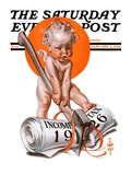 """""""No New Taxes """" Saturday Evening Post Cover  January 2  1926"""