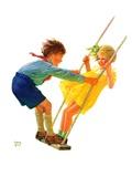 """""""Children on Swing """"June 22  1935"""