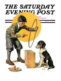 """Old Dog  New Tricks "" Saturday Evening Post Cover  July 11  1931"