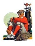 """""""Golfer Kept Waiting """"September 12  1931"""
