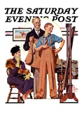"""""""First Long Suit """" Saturday Evening Post Cover  September 18  1937"""