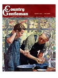 """Washing Up for Supper "" Country Gentleman Cover  August 1  1944"