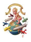 """""""Airships Circling Baby New Year """"January 2  1932"""