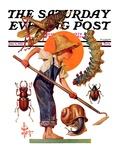 """Garden Pests "" Saturday Evening Post Cover  June 4  1932"