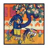 """Japanese Woman in Garden ""March 2  1929"