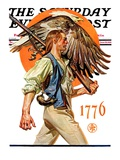"""Minute Man "" Saturday Evening Post Cover  June 29  1929"