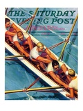 """""""Scullers """" Saturday Evening Post Cover  June 25  1938"""