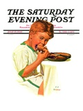 """""""Blueberry Pie """" Saturday Evening Post Cover  July 27  1935"""