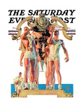 """""""Rowing Team """" Saturday Evening Post Cover  August 6  1932"""