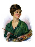 """""""Woman Artist and Her Palette """"April 28  1928"""