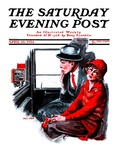 """Taxi Cab "" Saturday Evening Post Cover  April 26  1924"