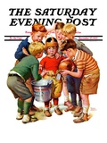 """You Can Be the Water Boy! "" Saturday Evening Post Cover  November 27  1937"