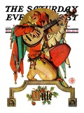 """Musical Jester "" Saturday Evening Post Cover  December 26  1931"