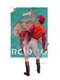 """""""Jockey Looks at Poster """"May 8  1937"""