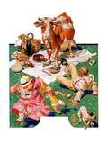 """""""Cow Joins the Picnic """"August 26  1933"""
