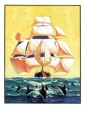 """Dolphins and Ship ""September 29  1934"
