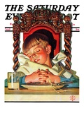 """After Turkey Nap "" Saturday Evening Post Cover  November 26  1938"