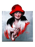 """Woman in Red Hat ""March 3  1923"
