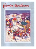 """""""Christmas in Town """" Country Gentleman Cover  December 1  1940"""