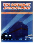 """Highway Diner "" Saturday Evening Post Cover  April 9  1938"