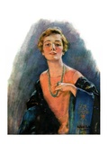 """""""Woman Wearing Beaded Necklace """"February 26  1927"""