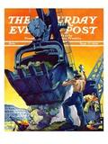 """Steam Shovel "" Saturday Evening Post Cover  September 17  1938"