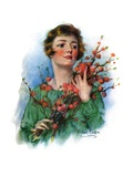 """""""Woman and Flowering Twigs """"May 21  1927"""