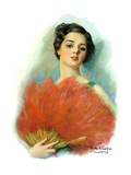"""""""Red Feathered Fan """"February 28  1931"""