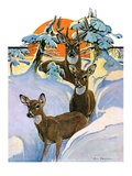 """Deer in Snow ""February 7  1931"