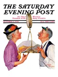 """Tipping the Scales "" Saturday Evening Post Cover  October 3  1936"