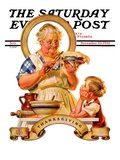 """Trimming the Pie "" Saturday Evening Post Cover  November 23  1935"