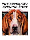 """You Ain't Nothing But a Hounddog "" Saturday Evening Post Cover  January 30  1937"