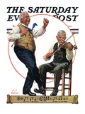 """""""Jig to a Fiddle """" Saturday Evening Post Cover  February 2  1929"""