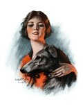 """""""Woman and Wolfhound """"October 17  1925"""