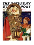 """Medieval Merry Christmas "" Saturday Evening Post Cover  December 25  1926"