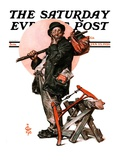 """""""Who  Me Work """" Saturday Evening Post Cover  January 23  1926"""