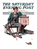 """""""Eighteenth Hole """" Saturday Evening Post Cover  August 8  1925"""