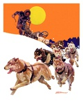 """""""Eskimo and Dog Sled """"February 29  1936"""