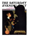 """Halloween  1926 "" Saturday Evening Post Cover  October 30  1926"