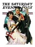 """Graduating Couple "" Saturday Evening Post Cover  June 11  1927"