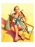 """""""Broken Beach Chair """"August 12  1939"""