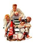 """""""Cheerleaders after Lost Game """"November 18  1939"""
