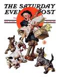 """Barking Up the Wrong Turkey "" Saturday Evening Post Cover  November 27  1926"