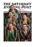 """Singing Men in Raccoon Coats "" Saturday Evening Post Cover  November 16  1929"