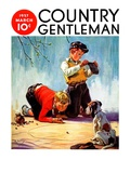 """""""Lost All His Marbles """" Country Gentleman Cover  March 1  1937"""
