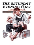 """Feeding Time "" Saturday Evening Post Cover  August 25  1923"