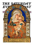 """Madonna and Child "" Saturday Evening Post Cover  December 24  1927"