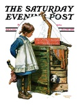 """""""No Girls Allowed """" Saturday Evening Post Cover  May 15  1926"""