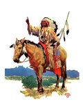 """""""Indian Chief on Horseback """"August 22  1936"""